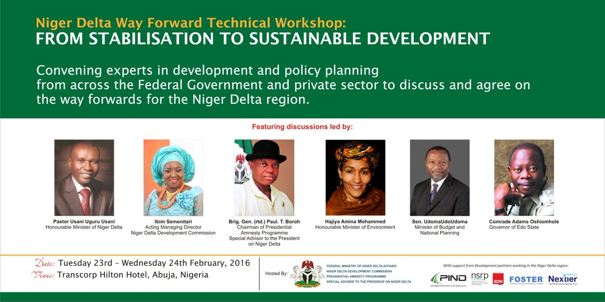 PIND is part of a coalition of devt organizations and Fed Govt agencies to develop the Niger Delta w/ #NDWayForward https://t.co/djHTt5yAPp