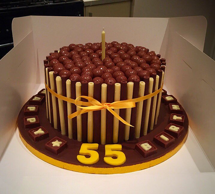Incredible Cakes By Sharon On Twitter When Youre 55 And Love Chocolate Personalised Birthday Cards Paralily Jamesorg