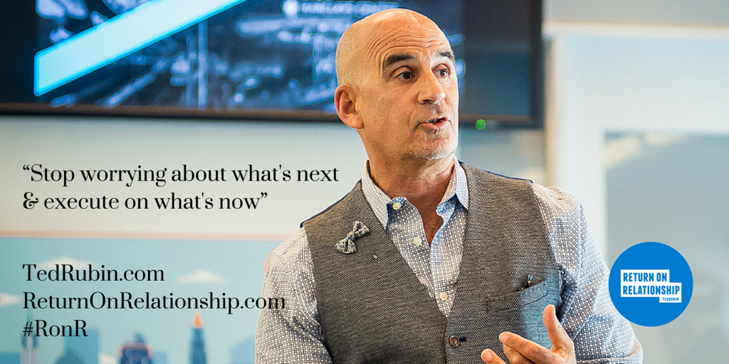 Stop worrying about what's next & execute on what's now! #RonR... #NoLetUp! https://t.co/gEaDDEtsRw https://t.co/6vz3xo0QOz