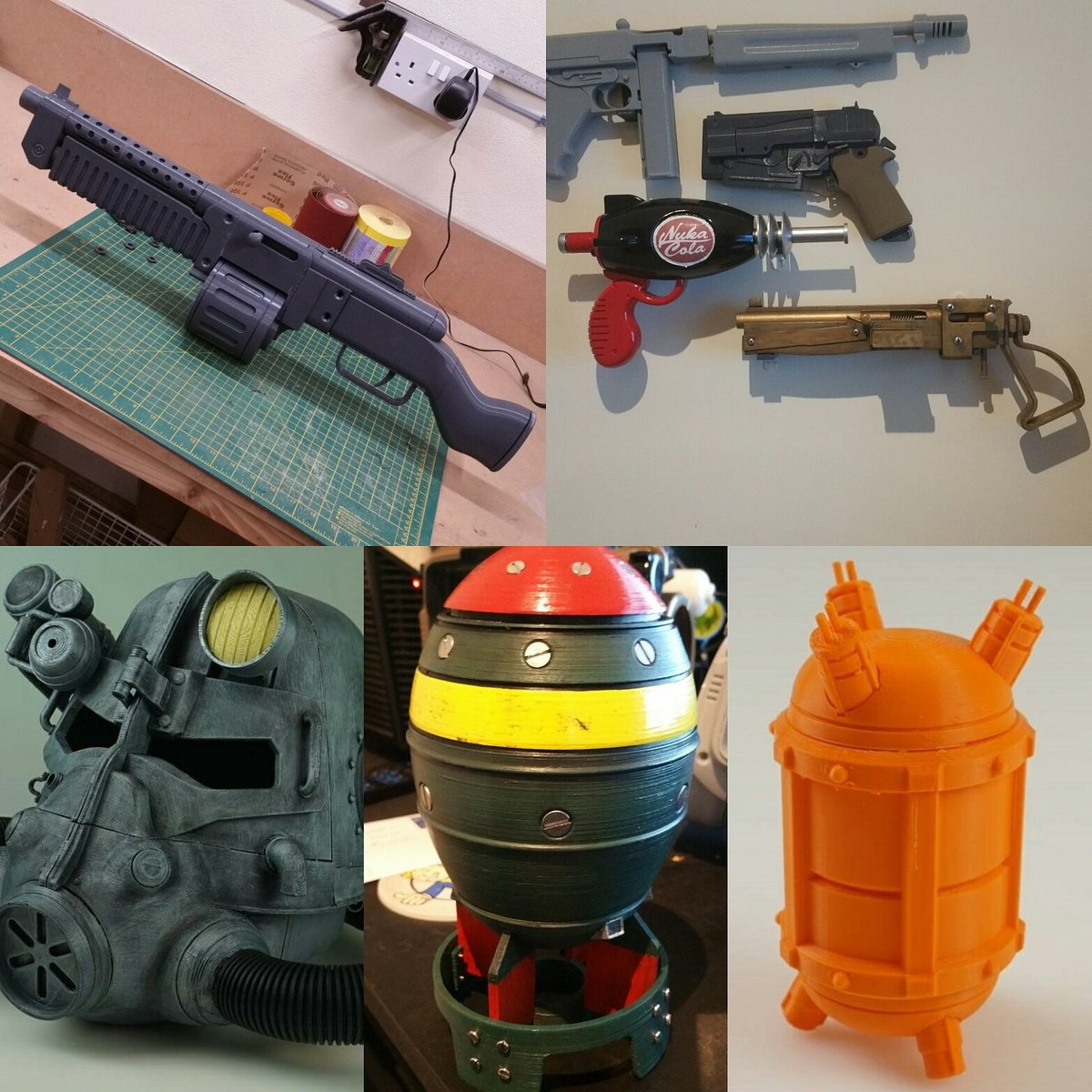 All my #3dprint 'ed #fallout props can now be bought through @MyMiniFactory, check it out. #Fallout4 #cosplay