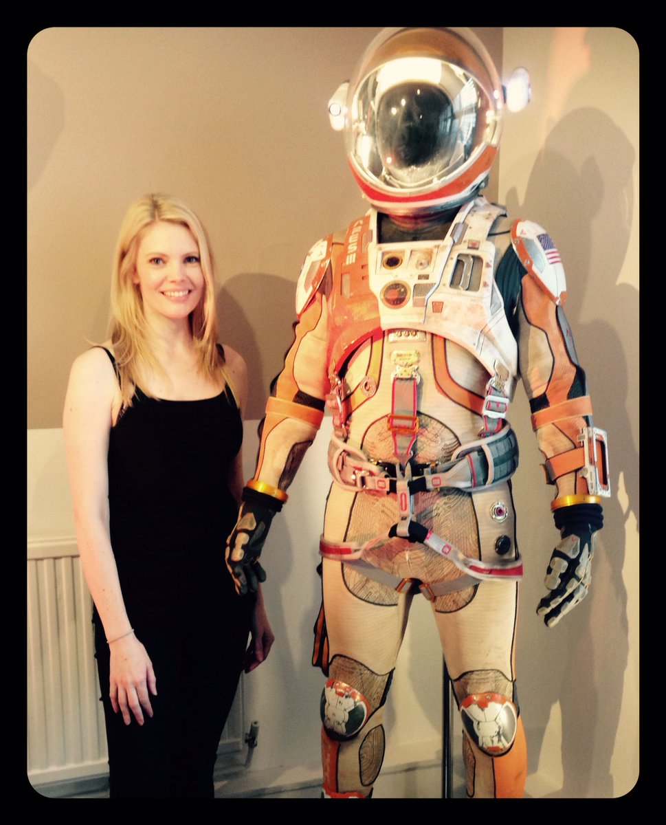 Today I got to hang out with Matt Damon's costume from The Martian. Sadly Matt Damon was not inside it #WorkingActor