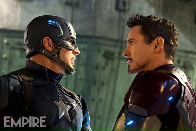 Iron Man and Captain America in 'Captain America Civil War'