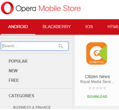 You can now download #citizennewsapp from opera mini store