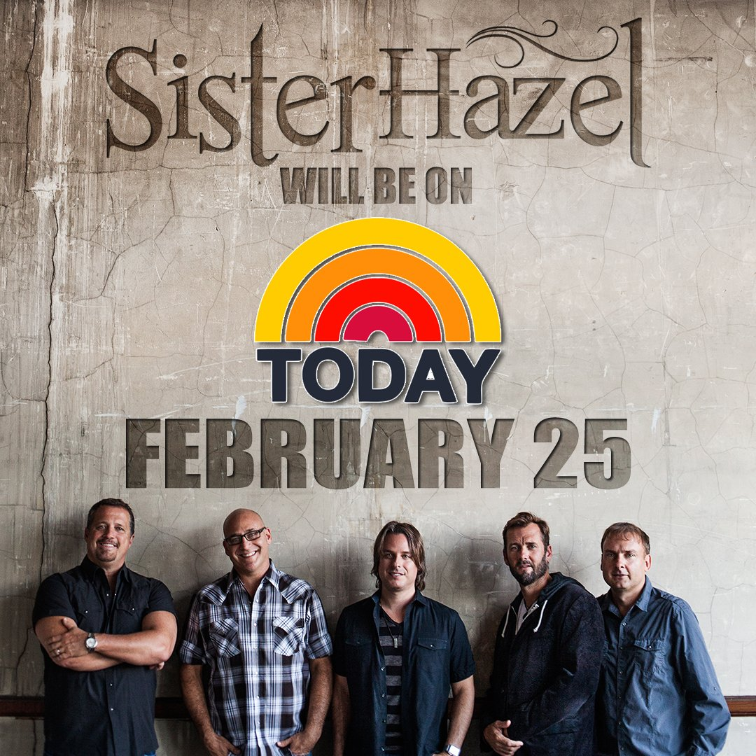 So, this is happening! 2/25, we'll be on the @TODAYshow!! https://t.co/U7yhHuPlFO