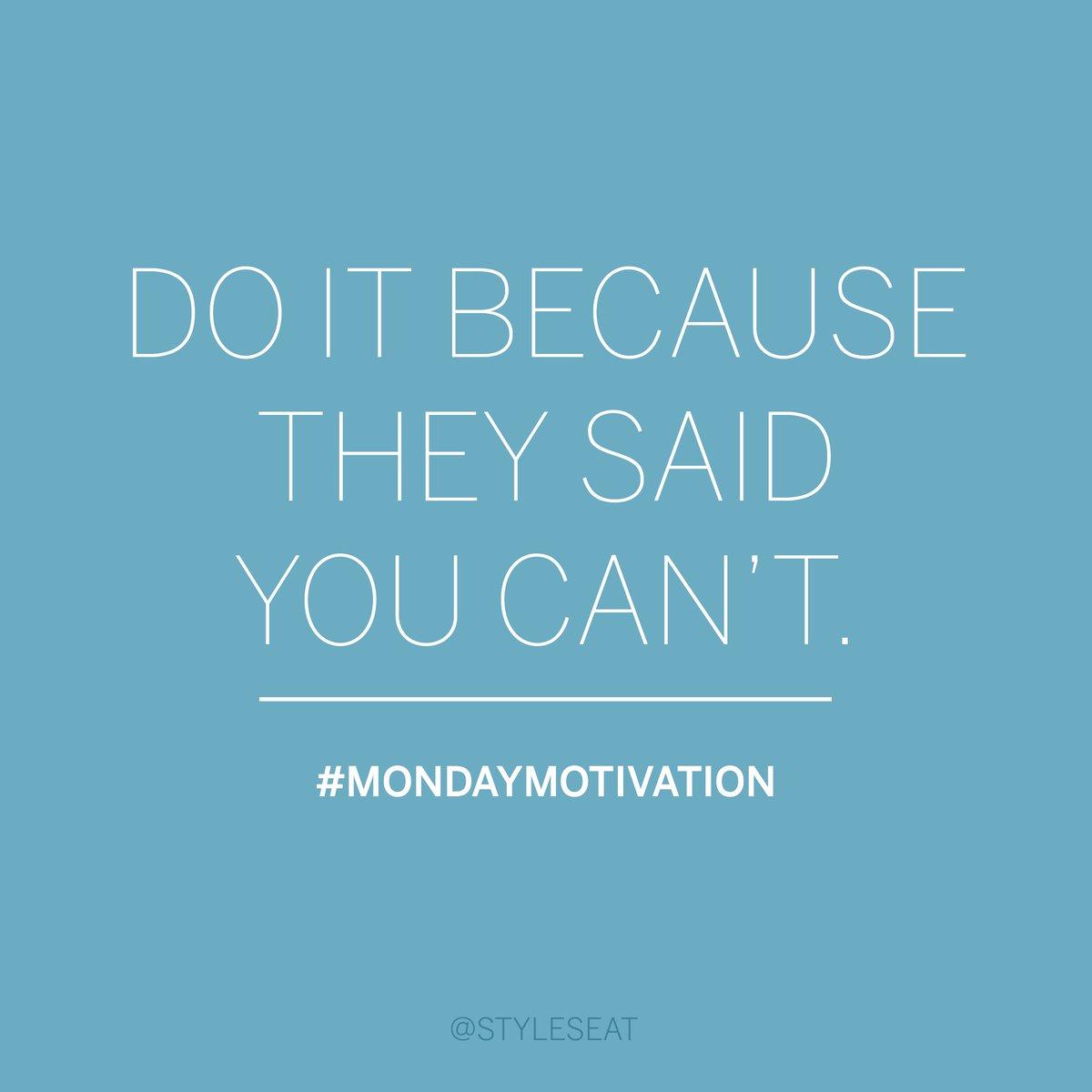 Show 'em. #MondayMotivation https://t.co/gEKjDNgdl0