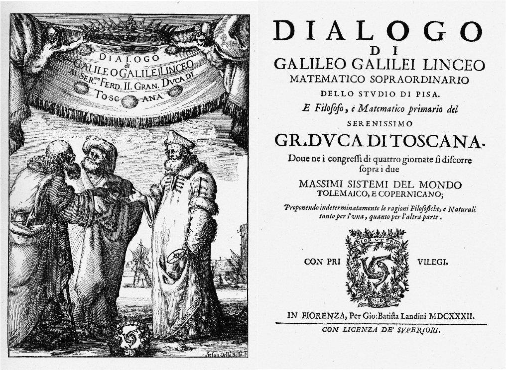 otd in 1632, galileo published