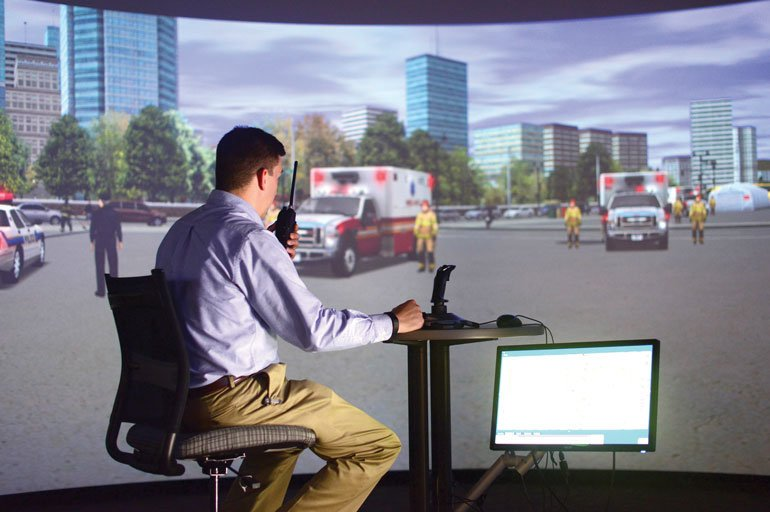 Homeland Security Simulation Center uses virtual reality to train for disaster response https://t.co/WkhpW1Eegb https://t.co/Wn7K0x8ggq