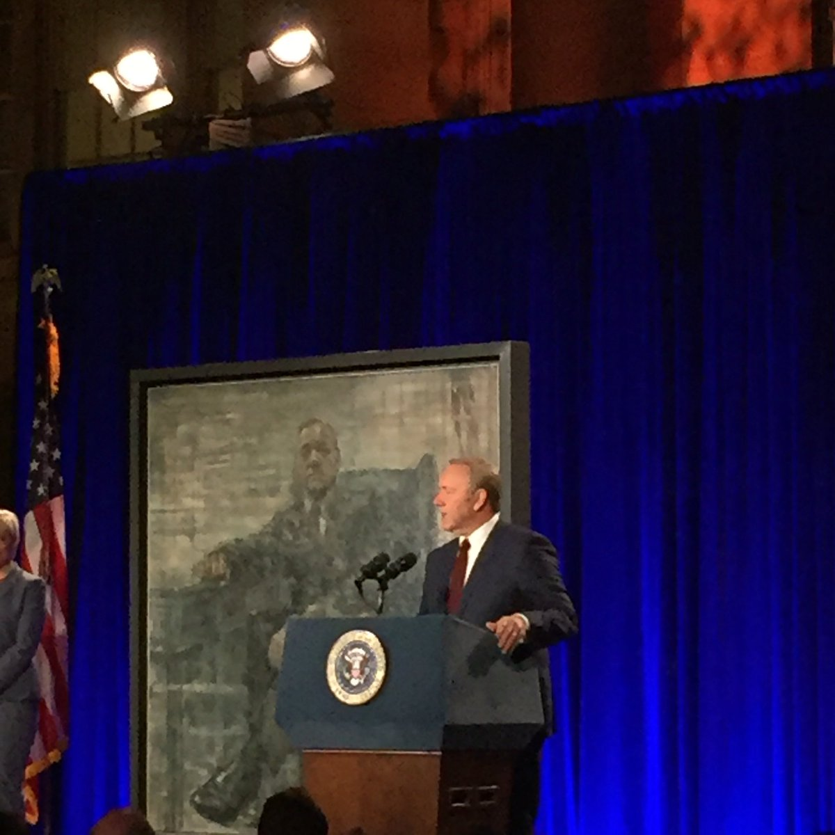 We're honored to welcome President Frank Underwood into our midst for his official portrait unveiling  tonight. https://t.co/ZHezfFW52o