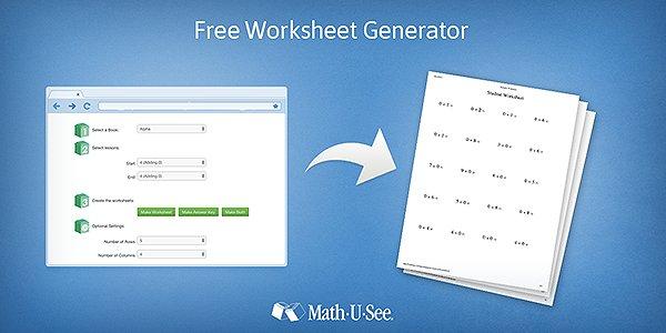 math worksheet : worksheet generator math u see  educational math activities : Math U See Worksheets