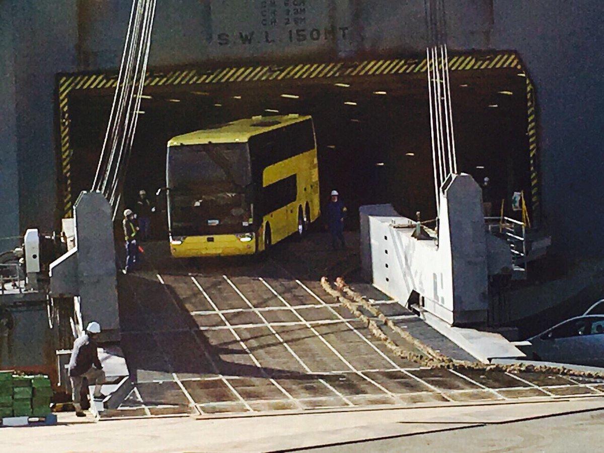 【新型2階建てバスAstoromega(アストロメガ)情報】 2/21横浜港に到着!定期的に情報を更新していきます!詳しくはFacebookをご覧ください♪ ≪アストロメガ運行まであと62日≫ #はとバス #新型 #アストロメガ