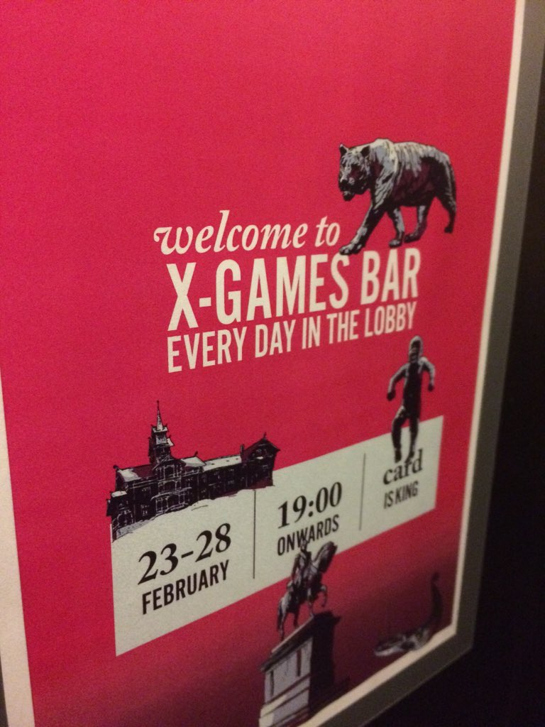 Boom! Let the games, literally, begin!  See you at the bar?  #xgamesbar #xgamesoslo #comfortborsparken #oslo https://t.co/9ttUHl78l1