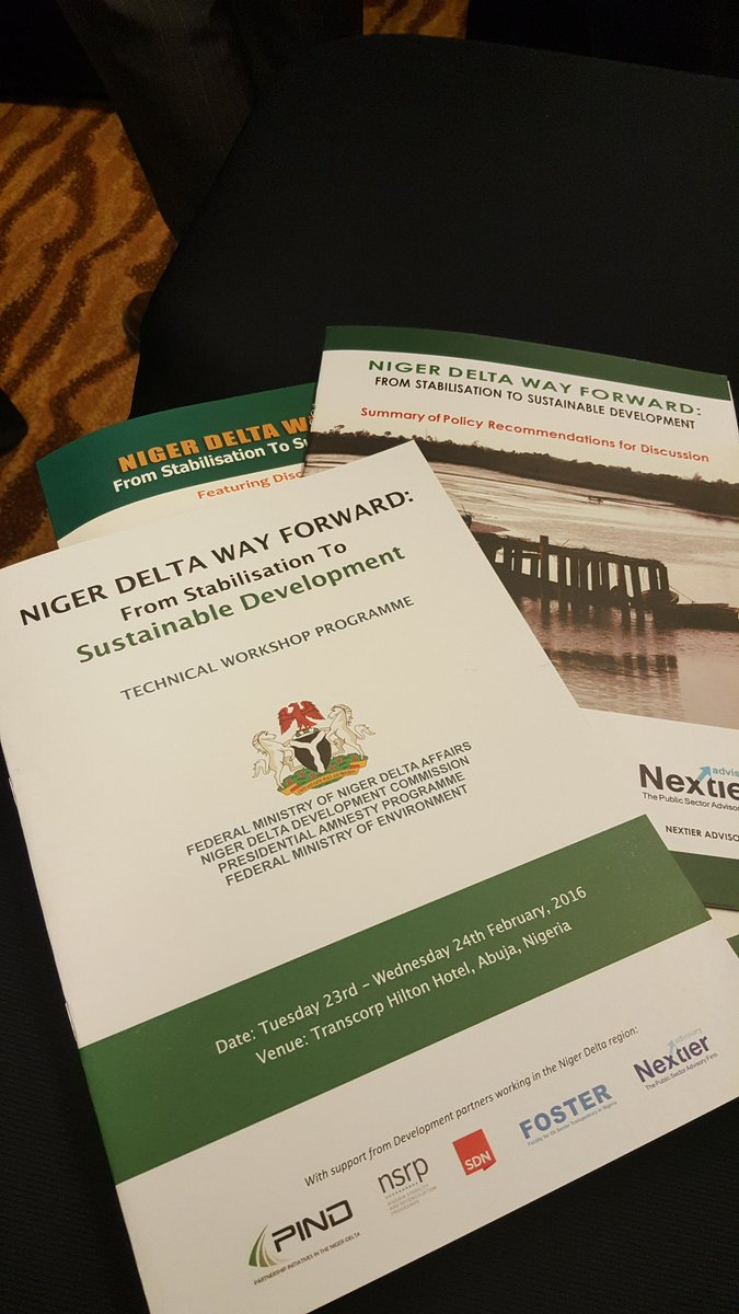 #NDWayForward about to start. Follow @PIND_NigerDelta and @_NDLink for updates throughout the day. https://t.co/EjVs1bdoVe