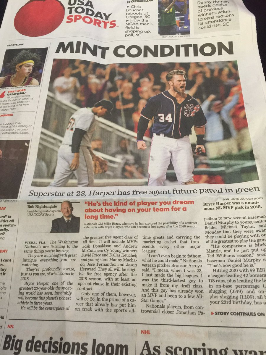 Love to see my boy @Bharper3407 talking about his love for the @Nationals and DC in @USATODAY #OpeningDay in 43 days https://t.co/Vm7t9Vojq1