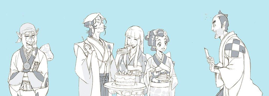 怪~ayskashi~から10年、ついでに昨日の誕生日と漫画家生活10年目の自分の為だけに描いたおめでとうイラストです。おめでとう怪~ayakashi~そして私。