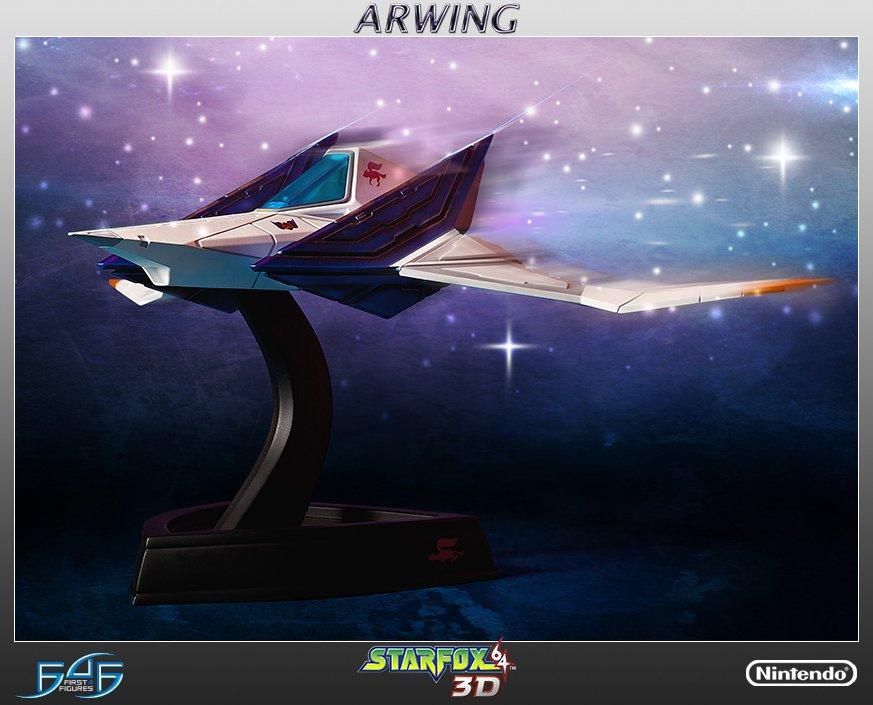 【予約開始】最新作の発売も間近な『スターフォックス』シリーズ、その主役機アーウィンがファースト4フィギュアからスタチュー化!『スターフォックス64 3D』版デザインで全長約48センチ!