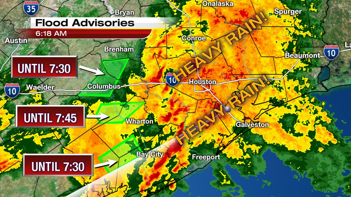 KPRC 2 Houston on Twitter FLOOD ADVISORIES CONTINUE Heavy rain