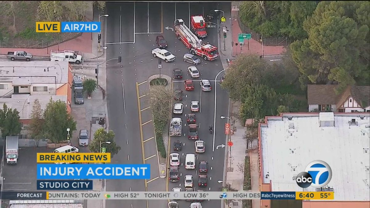 TRAFFICALERT Accident Laurel Canyon Blvd Fwy Studio City