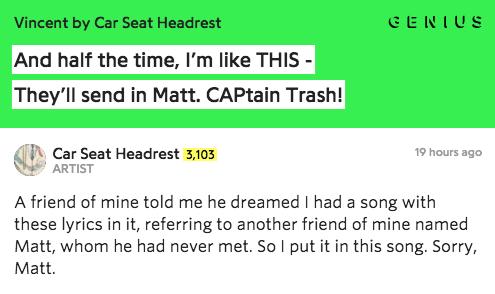 Rap Genius On Twitter Carseatheadrest S New Video For Vincent