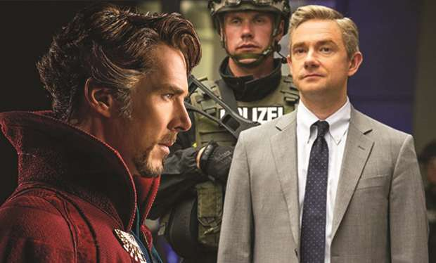 Could #Sherlock's Benedict Cumberbatch and Martin Freeman reunite in the Marvel universe?