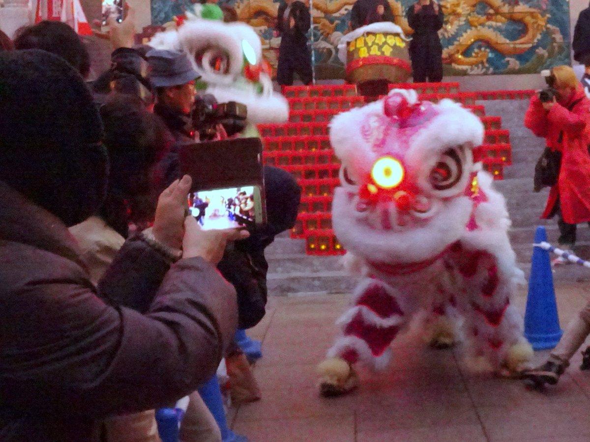 昨日の散歩日記-11 横浜媽祖廟にて、春節の獅子舞(神奈川県横浜市)