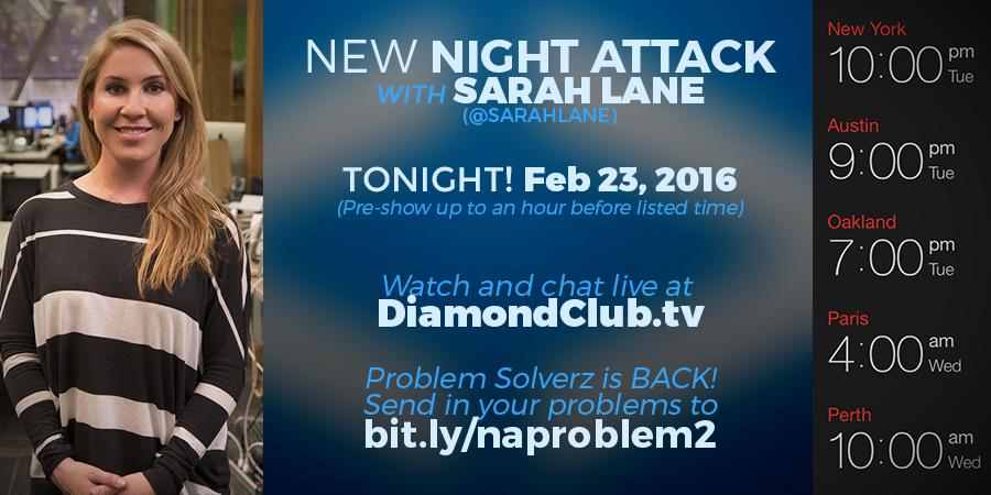 TONIGHT! New episode w @sarahlane @JustinRYoung @shwood. Problem Solverz is BACK! https://t.co/jJp5ygFDQx @ 10pEST https://t.co/IwPRkDvm1c