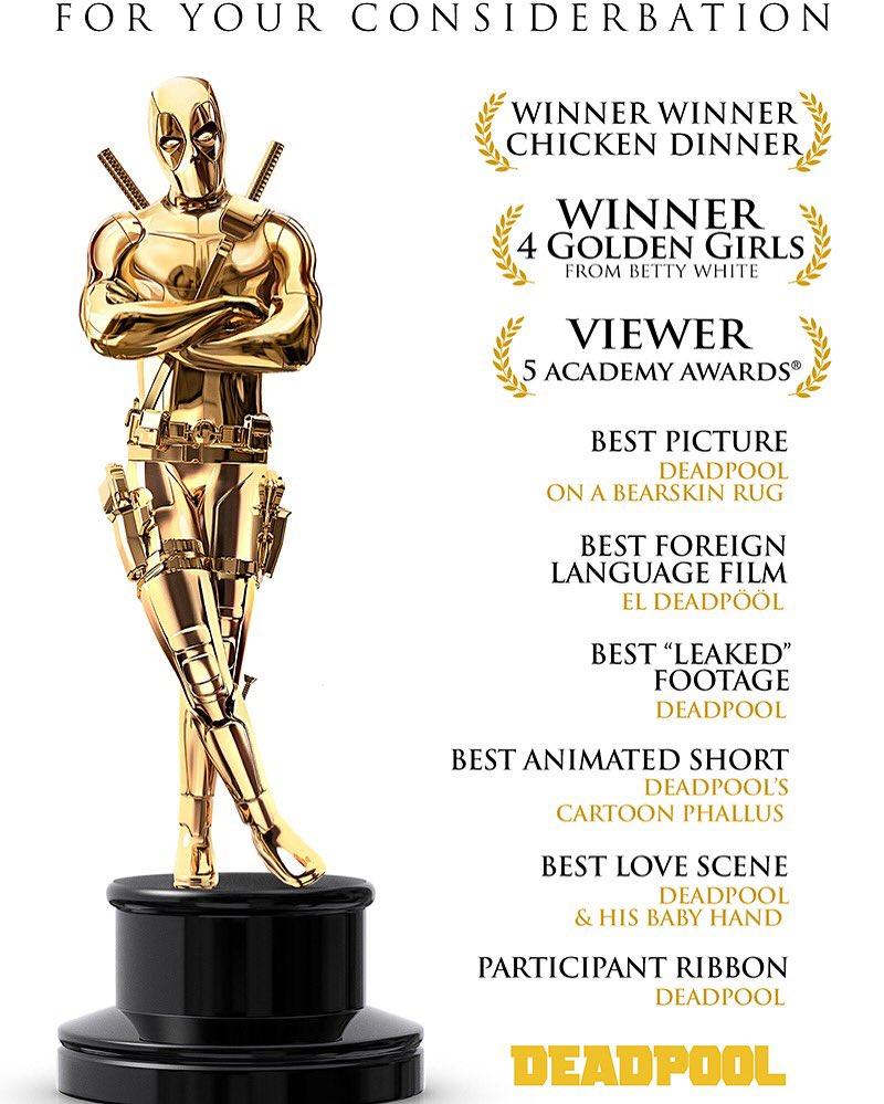 Deadpool ao Oscar