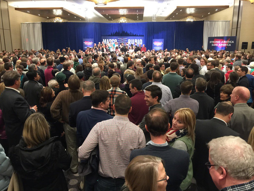 Hastily organized Marco Rubio rally draws 1600 in Minneapolis. https://t.co/Mzpdl95wpc