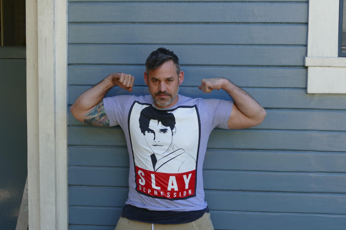 New #SlayDepression limited edition tee https://t.co/zB6GlbKvZR in support of @afspnational https://t.co/vObgCXCLks