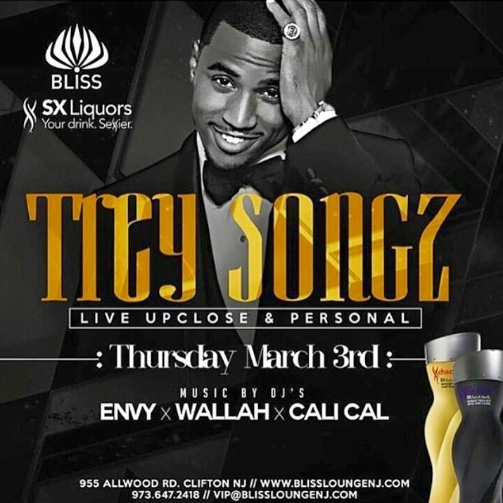 Jersey is about to get sexier with @SXLiquors & @TreySongz  Ladies get ready!