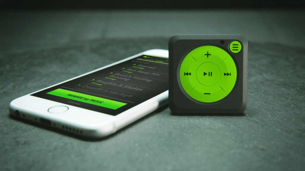 Mighty is a modern iPod Shuffle that runs on Spotify