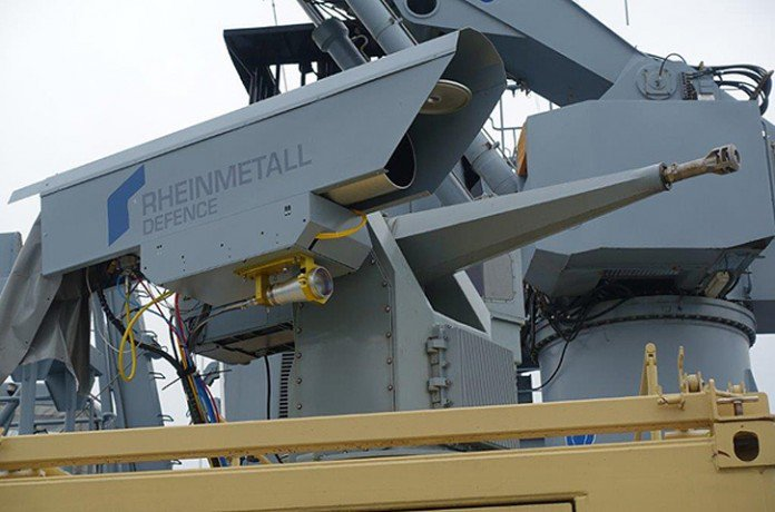 Rheinmetall Conducts Sea Trials of a Naval Laser Gun