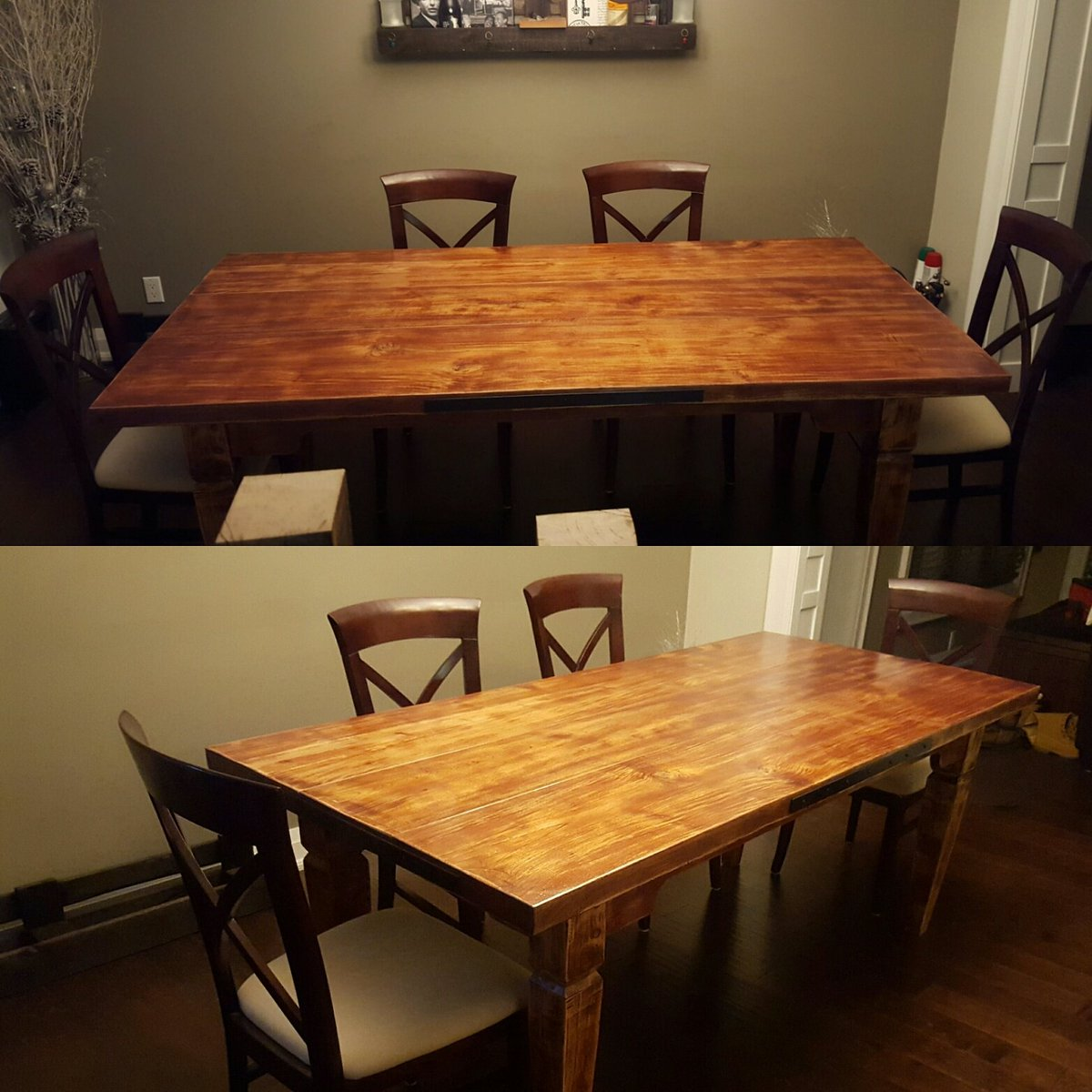 Rude On Twitter New Harvest Table Set Up 60 Year Old White Oak One Of A Kind Customfurniture Carpentry Reclaimedwood Rustic Tco DMR9FUNYZr