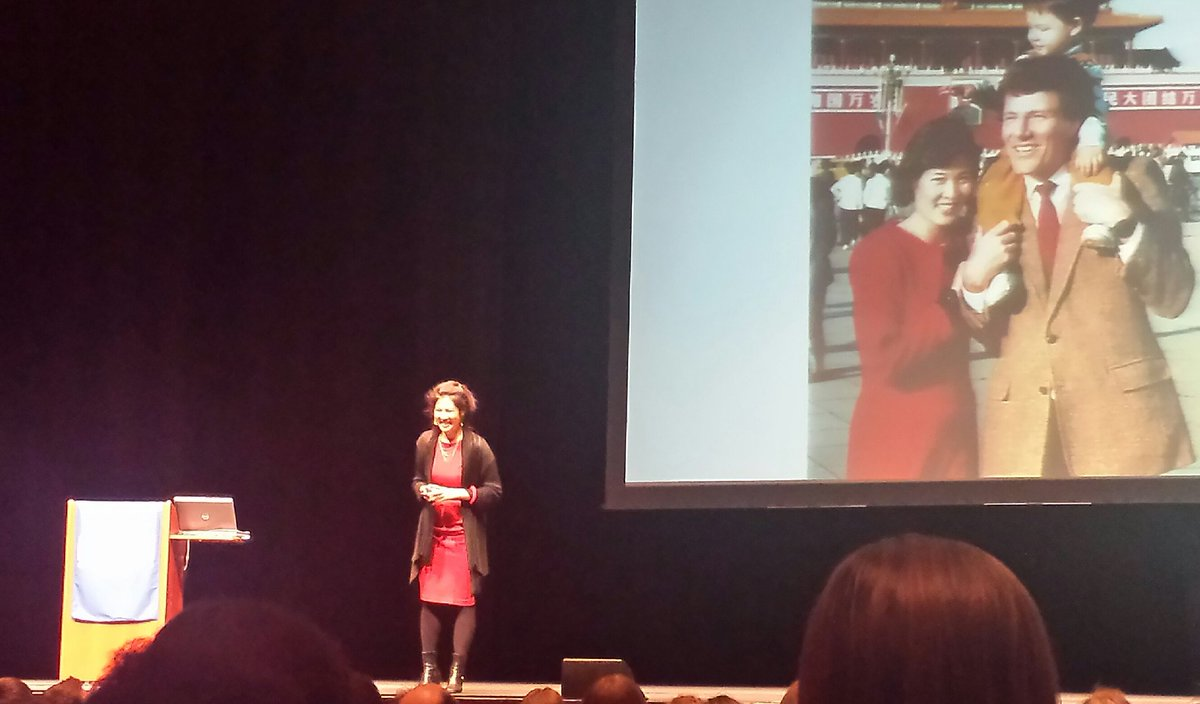 @WuDunn speaking at the #ENThompsonForum @LiedCenter. #lnk #unl #activism @UNLNews https://t.co/a9jBo7eukH