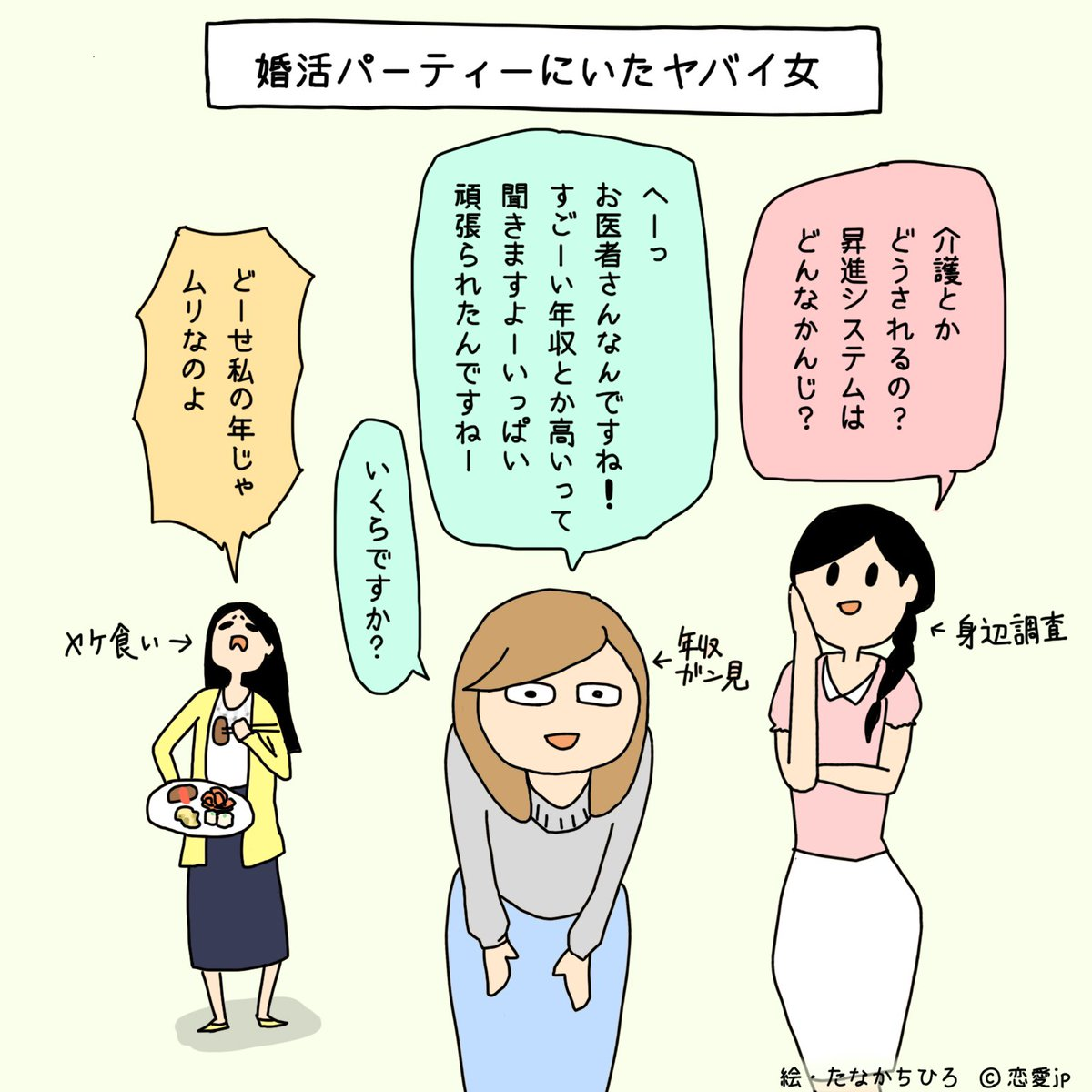 恋愛jp On Twitter イラストで解説一気に興ざめ 婚活