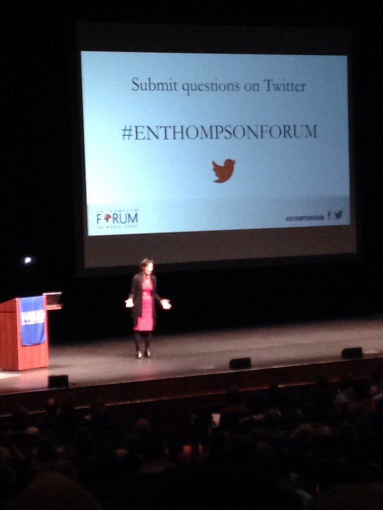Excited to see Sheryl WuDunn speak on international women's issues at the #ENThompsonForum @u_nebraska https://t.co/lZ8ZYUOypp