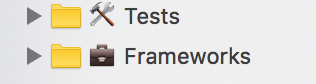 I wish Xcode could do custom icons for groups. But until it does, I've found a solution with emoji. https://t.co/pxceSiyaFz