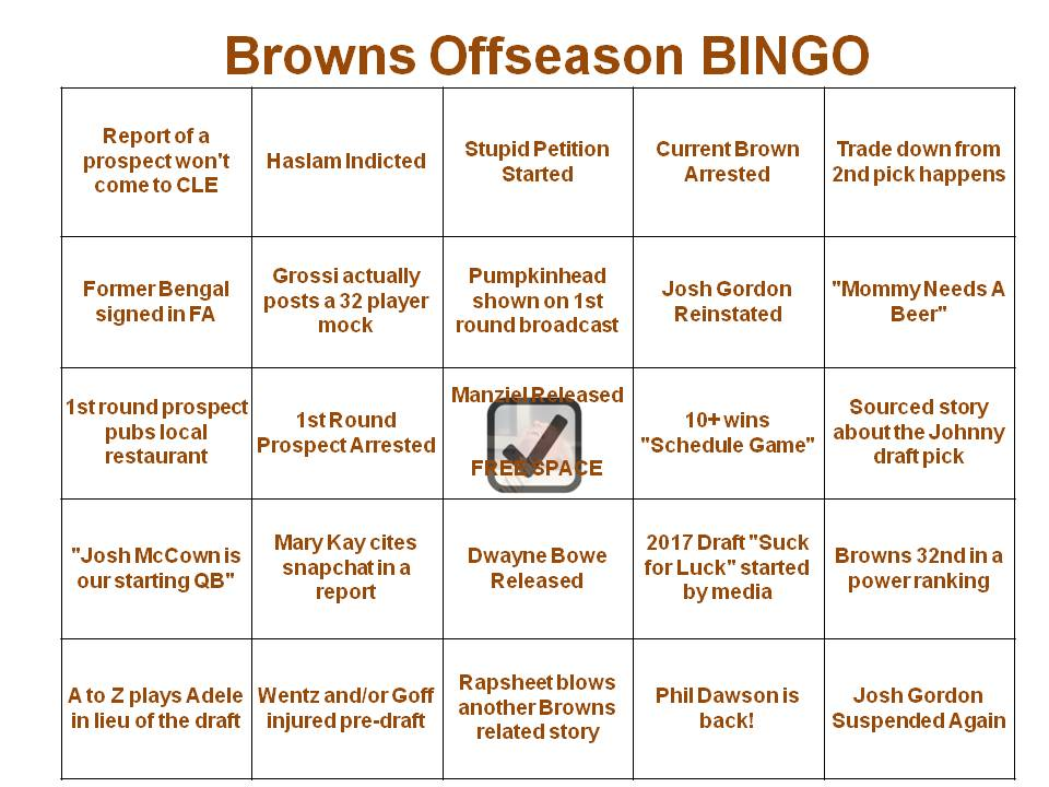 BACK BY POPULAR DEMAND #OffseasonBingo https://t.co/Fl3Ff924K9