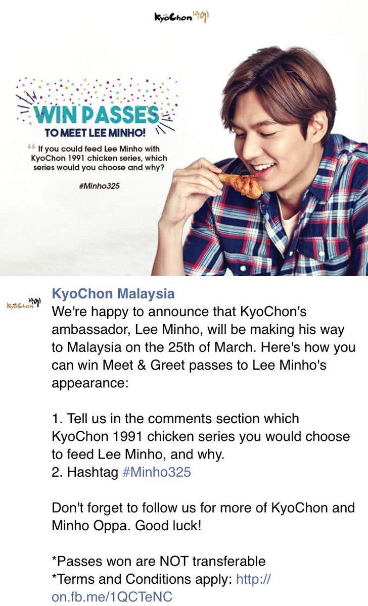 alwayswithleeminho on twitter leeminho alwayswithleeminho on twitter leeminho win meet greet passes 25 mar kyochon malaysia event facebook giveaway contesthttpst4flrwe0vbe m4hsunfo