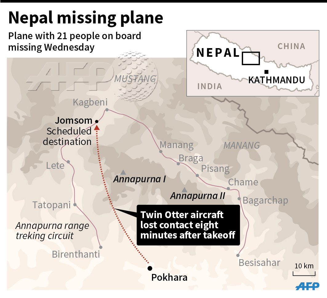 Plane Crash Feared In Nepal As Flight Carrying Goes Missing In - Mountainous aircraft accidents map us