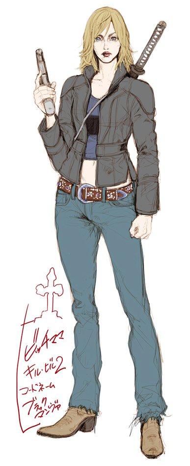 キルビル2のユマのイラストをあまり見かけないので描いてみました!似てないけど^^;