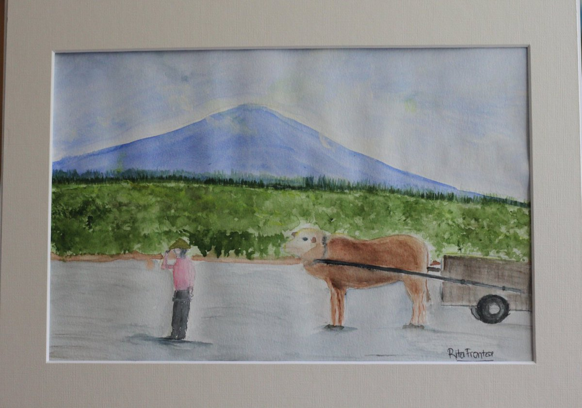 Villagers life - cultural watercolor painting, 9x12in matted in11x1…  #artwork #MountainTheme