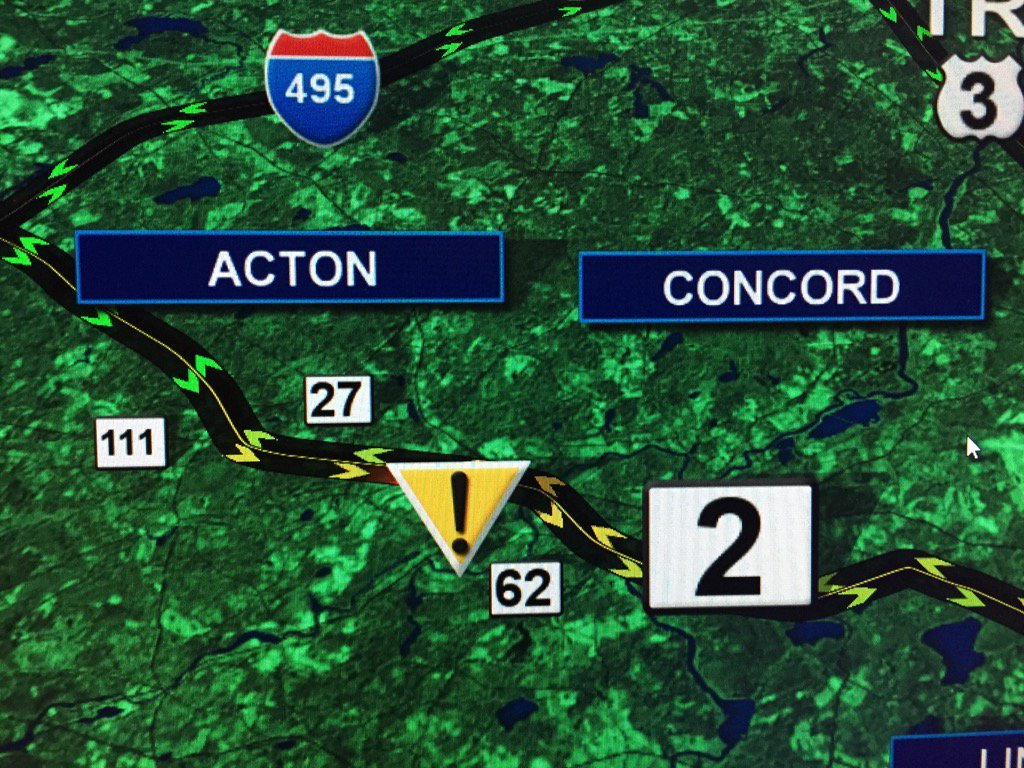 Accident Concord: TRAFFIC ALERT Accident Concord, Rt 2 EB