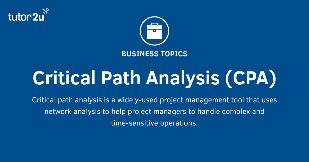critical path analysis tutorials The critical path consists of a path of critical activities and is given by activities a, b, e and f activities that lie on the critical path cannot be delayed.