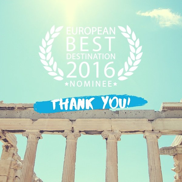 Athens is the 2nd best European destination 2016! Thank you all for your great support! #thisisathens #ebd2016 https://t.co/vAH2UWYkZE