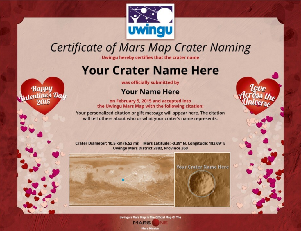 Mars One On Twitter Thanks To Uwingusky You Can Name A