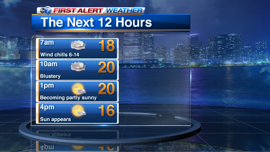 Flurries likely this morning then sun returns to Chicago this afternoon. Bitter cold & snow in weekend forecast!