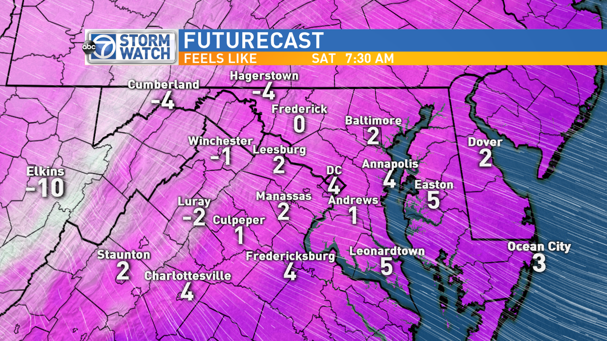 Ready for single digit and below 0 wind chills? This is what it'll feel like waking up tomorrow morning! @ABC7news