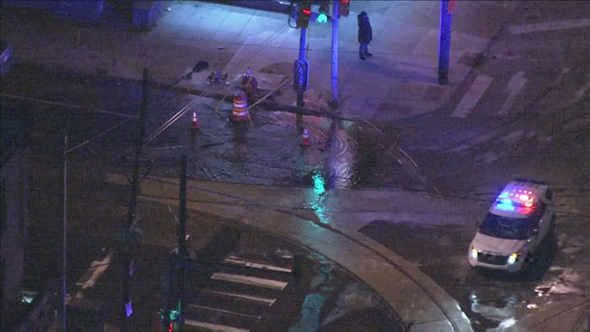 DEVELOPING: Crews Respond To Water Main Break In West Philadelphia