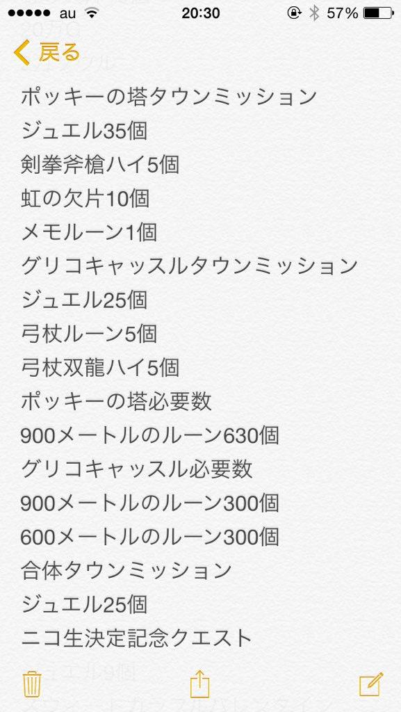 【白猫】「ポッキーの塔」「グリコキャッスル」強化に使う「900メートルのルーン」必要数とタウンミッション一覧!黒猫のメモリアルルーンも貰える!