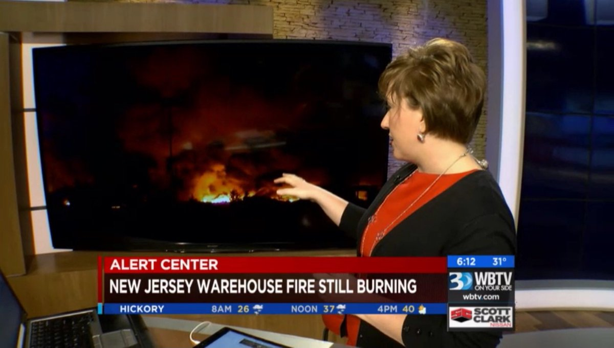 Our @WBTVKristenM is keeping us updated on that huge fire in NJ that continues to burn this morning! WatchWBTV